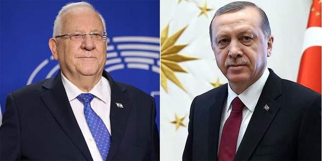 İsrail Cumhurbaşkanı'dan Erdoğan'a teşekkür telefonu