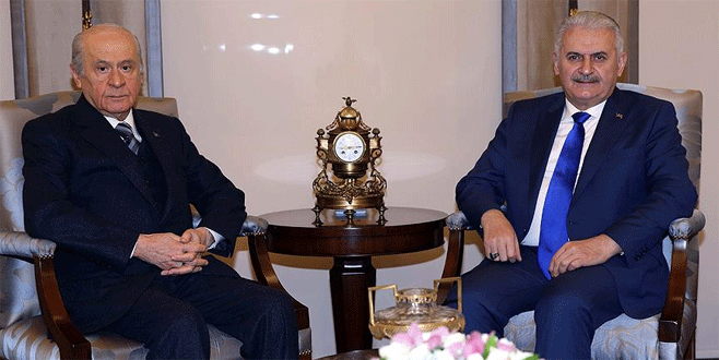 Başbakan Yıldırım, Devlet Bahçeli ile görüştü
