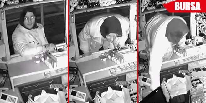 Büfeden hırsızlık güvenlik kamerasında!