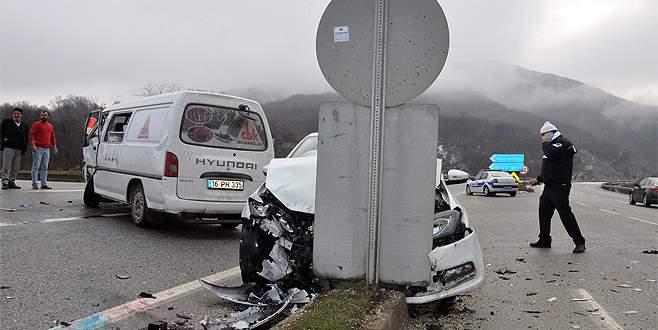 Bursa'da 4 ayrı kaza: 3 yaralı