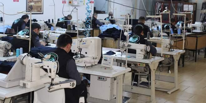 Hastanelerin tekstil ürünleri cezaevinden