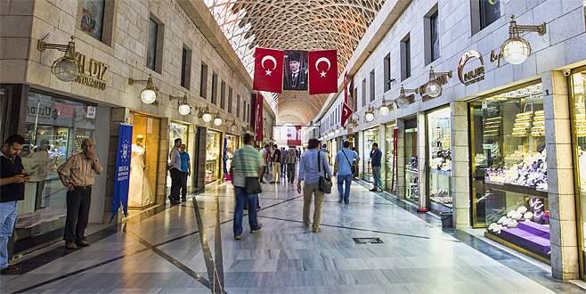 Bursa'nın tarihi çarşıları AVM'ler ile yarışacak