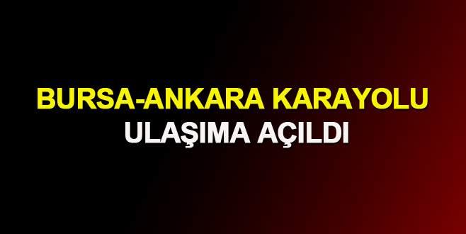 Bursa-Ankara karayolu ulaşıma açıldı