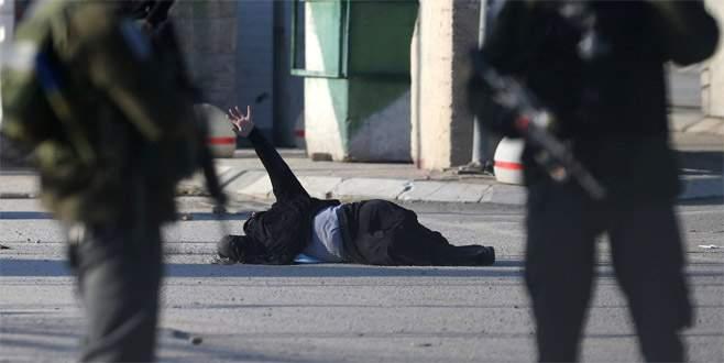 Polis Filistinli kadını vurdu