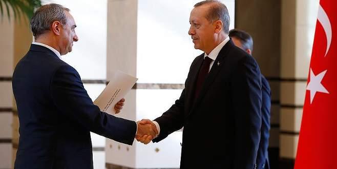 Cumhurbaşkanı Erdoğan İsrail'in Ankara Büyükelçisi Na'eh'i kabul etti
