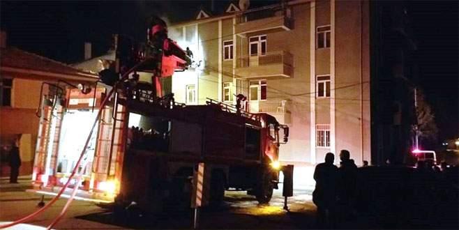 Kütahya'da öğrenci yurdunda yangın