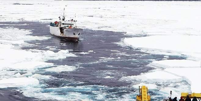 Kutuplardaki buzul miktarında rekor düzeyde düşüş