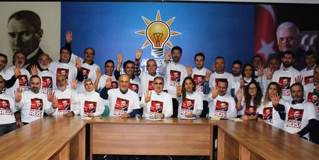 AK Parti Nilüfer'den Erdoğan'a destek