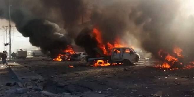 Pazaryerine bomba yağdı