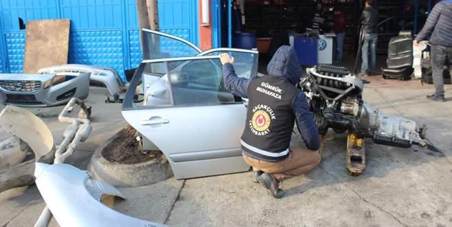 Bursa'da yabancı plakalı araç operasyonu