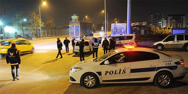 Bursa'daki 'huzur operasyonunda' 107 gözaltı