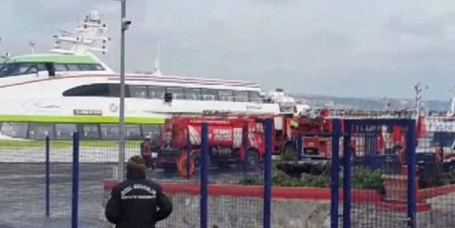 Deniz otobüsünde yangın