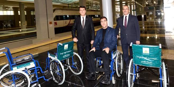 Osmangazi'den Ankara Garı'na tekerlekli sandalye