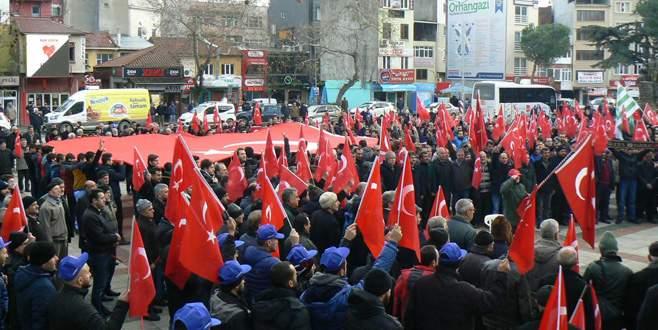 Orhangazi'de terör saldırıları protesto edildi