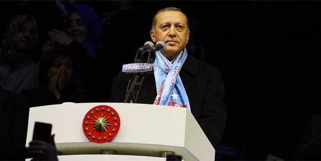 Erdoğan: 'Onlar teröre koştukça benim milletim birliğe koşacak'