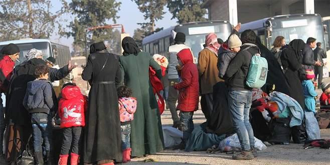 'Doğu Halep'ten tahliye edilenlerin sayısı 20 bine ulaştı'