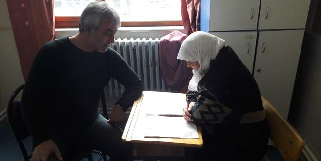 Halk Eğitim'den okuma-yazma kursu