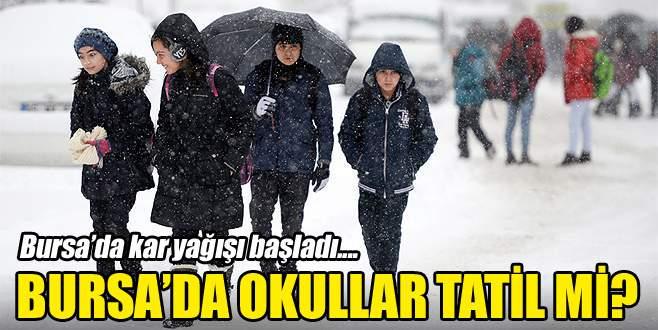 Bursa'da okullar bugün tatil mi? (21 Aralık Çarşamba günü okullar tatil mi?)