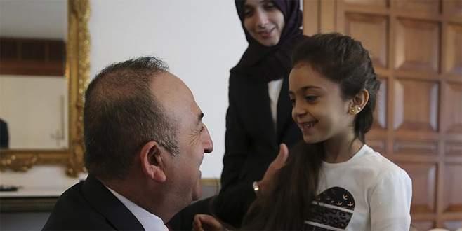 Çavuşoğlu, Halepli Bana Alabed ile görüştü