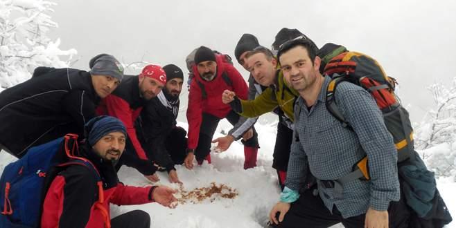 Eksi 10 derecede kar helvası yapıp yediler
