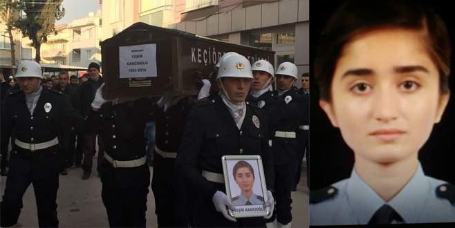 Kadın polise gözyaşlarıyla veda