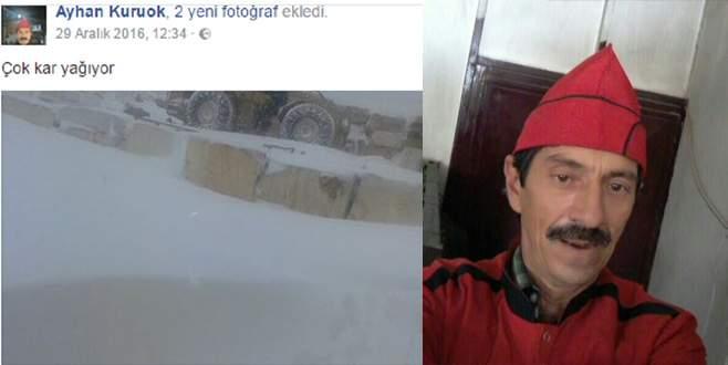 3 gündür kayıp vatandaş donmuş halde bulundu
