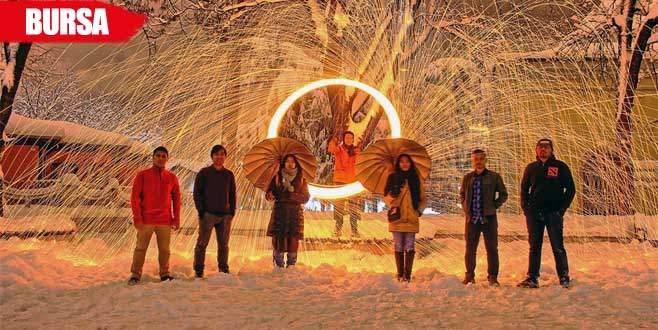 Endonazyalı öğrenciler karın tadını böyle çıkardılar