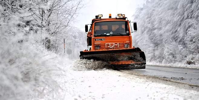 Bursa'da 149 köyün yolu açıldı, 21 köyün yolu kapalı