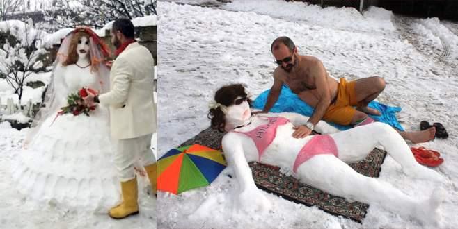 Geçen sene evlendiği kardan gelinle bu yıl balayına çıktı