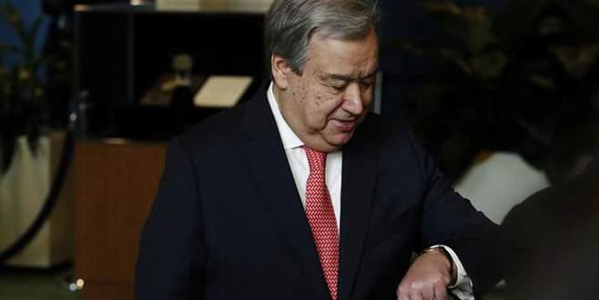 Guterres Kıbrıs için devrede