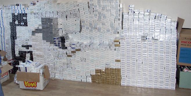 Bursa'da 26 bin paket kaçak sigara ele geçirildi