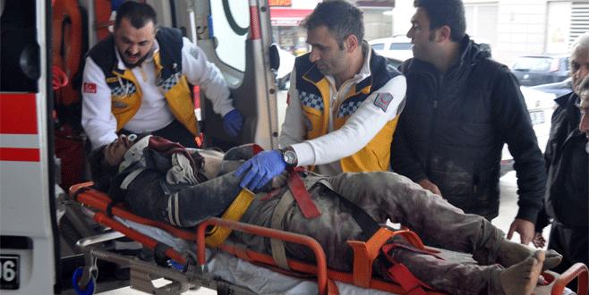 Bursa'da elektrik akımına kapılan işçi 3. kattan düştü