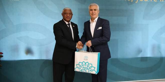 Etiyopya Büyükelçisi'nden Mustafa Bozbey'e ziyaret