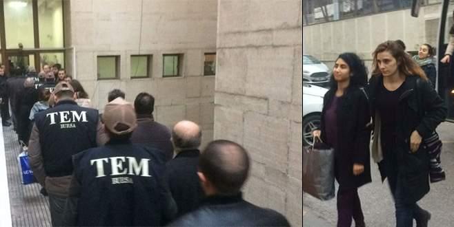 Bursa'da terör propagandası yapan 14 kişi adliyede