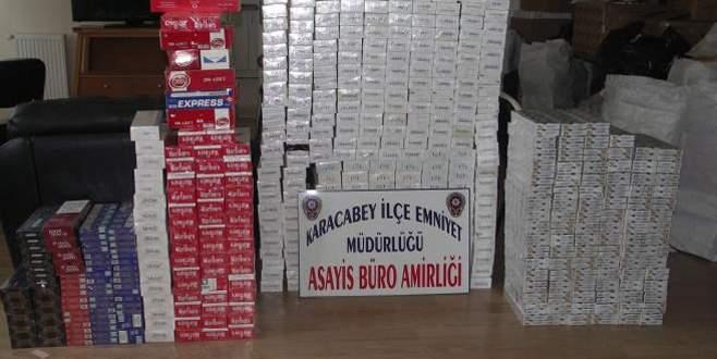 Bursa'da 5 bin paket kaçak sigara ele geçirildi