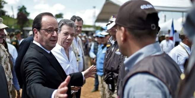 Hollande'dan gerillaya ziyaret