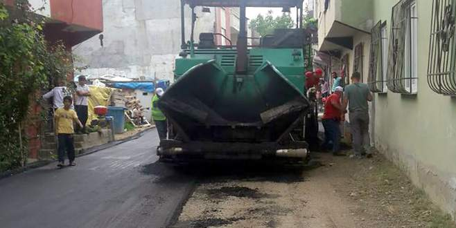Yıldırım'da asfalt çalışmaları 2016'da da hız kesmedi