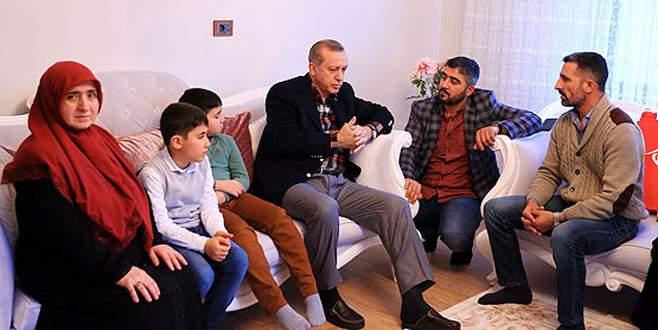 Cumhurbaşkanı Erdoğan'dan 15 Temmuz gazisinin ailesine ziyaret