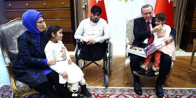 Suriyeli 'Gözyaşı' ve babası Cumhurbaşkanlığı Külliyesi'nde