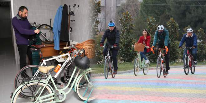 Bisiklet kullanan personele özel oda