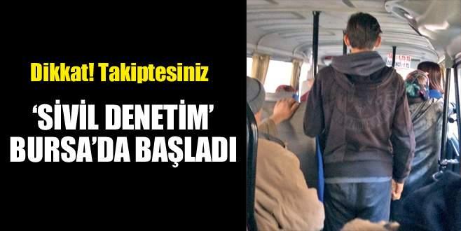Trafikte 'sivil denetim' Bursa'da başladı
