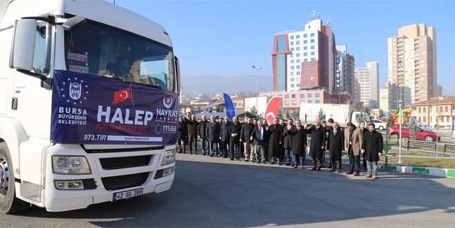 Bursa'dan Suriye'ye gıda yardımı