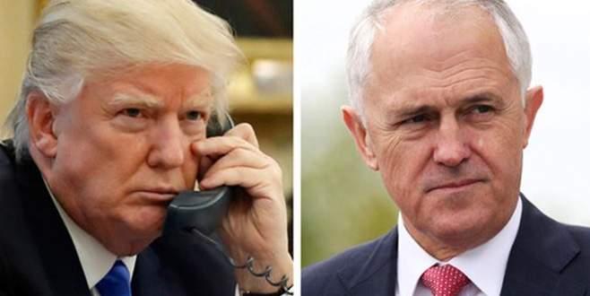 Trump yüzüne telefonu kapattı