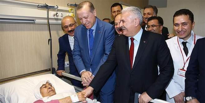 Cumhurbaşkanı Erdoğan, hastaları ziyaret etti