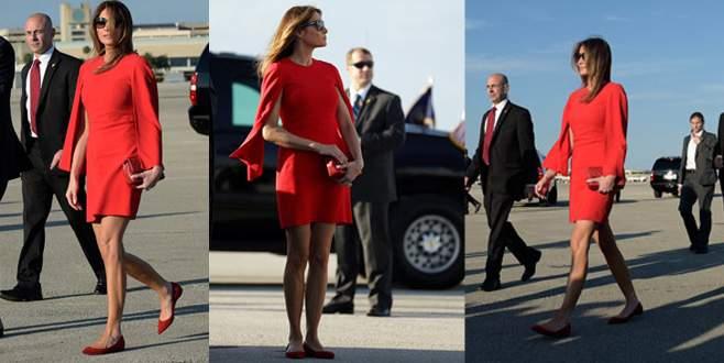 First Lady ilk kez seyahatte