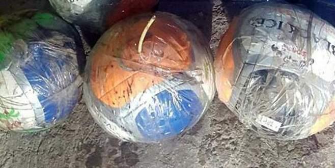 PKK'lı teröristler topların içerisine patlayıcı tuzaklamış!