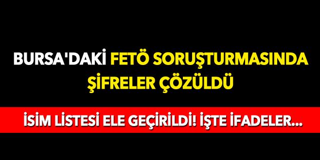 Bursa'daki FETÖ soruşturmasında şifreler çözüldü!