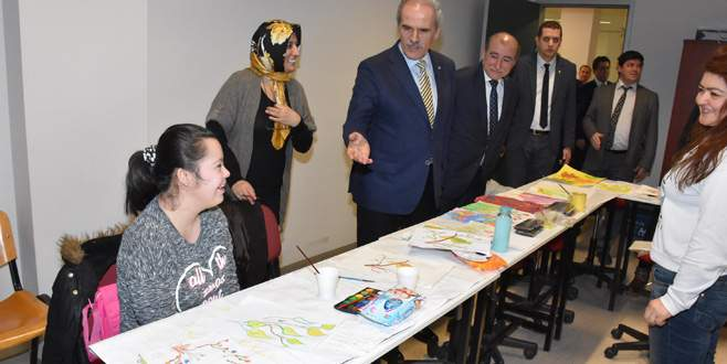 Altepe'den engelli kursiyerlere ziyaret