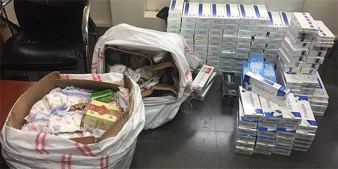Bursa'da bebek bezlerinin içinden kaçak sigara çıktı