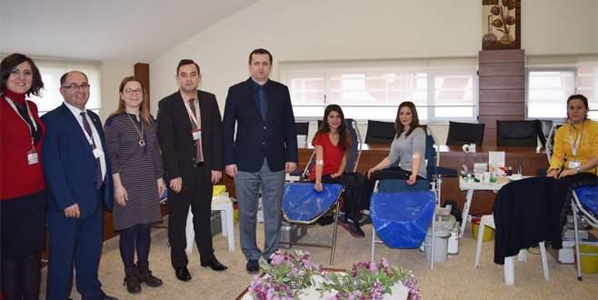 Sınav'dan Kızılay'a 249 ünite kan bağışı